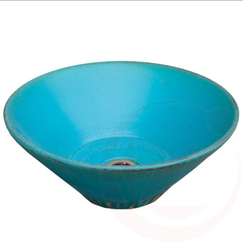 【送料無料】【代引不可】【メーカー直送】陶器の水鉢×トルコブルー(寒冷地仕様 和風ガーデニングパン)
