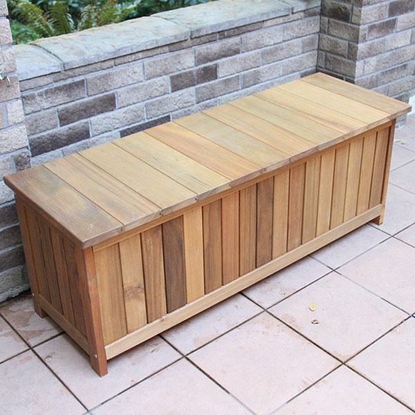 【代引不可】【メーカー直送】ガーデンファニチャー ウッドシリーズ キャビネットベンチ AN3-CB120