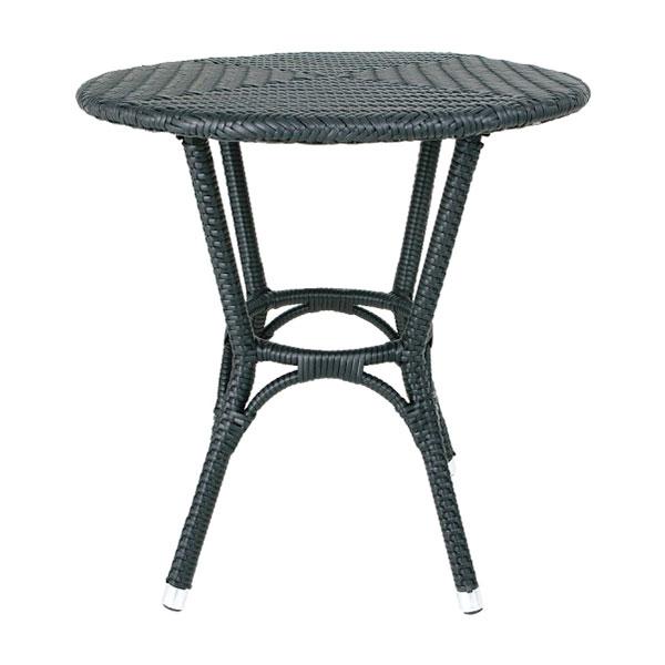 【代引不可】【メーカー直送】ガーデンファニチャー ウィーヴィングテーブル (ブラック) DT3-101854BK