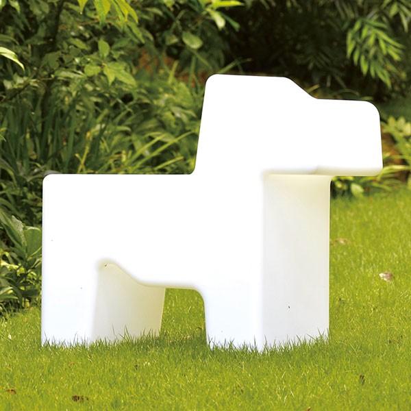 【代引不可】【メーカー直送】gardenchair DOGS (ガーデンチェアドッグス) (ホワイト) FL3-DOGWH
