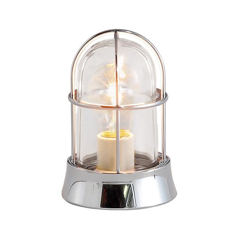 【送料無料】【代引不可】【メーカー直送】真鍮製ガーデンライト BH1000 クリアーガラス製×【カラー:クローム】【白熱電球使用】