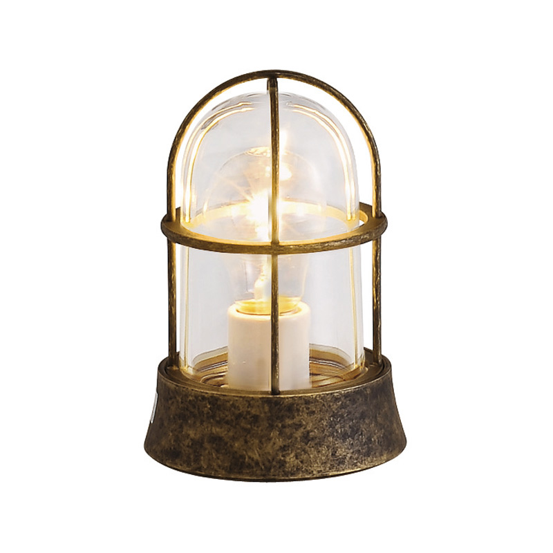 【送料無料】【代引不可】【メーカー直送】真鍮製ガーデンライト BH1000 クリアーガラス製×【カラー:古色】【白熱電球使用】