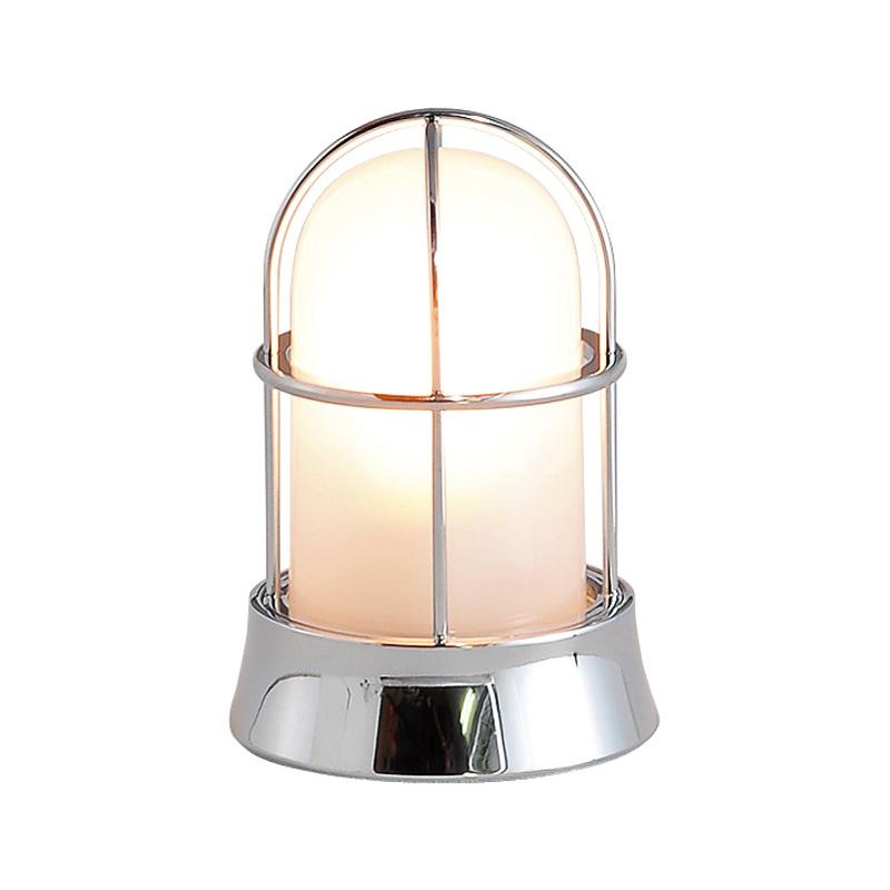 【送料無料】【代引不可】【メーカー直送】真鍮製ガーデンライト BH1000 くもりガラス製×【カラー:クローム】【LED使用】