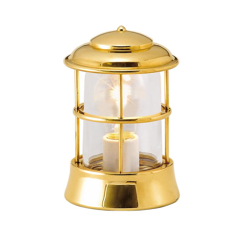 【送料無料】【代引不可】【メーカー直送】真鍮製ガーデンライト BH1012 クリアガラス製×【カラー:磨き】【白熱電球使用】
