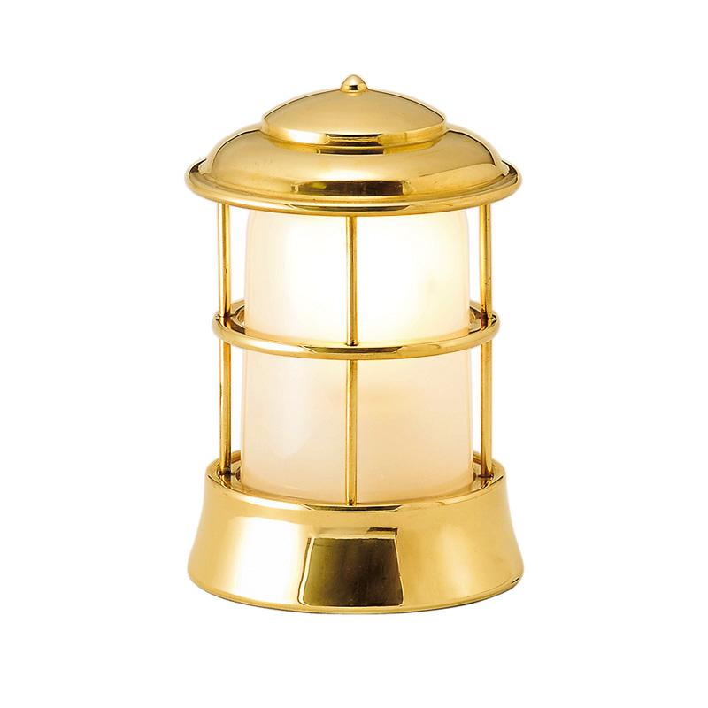 【送料無料】【代引不可】【メーカー直送】真鍮製ガーデンライト BH1012 くもりガラス製×【カラー:磨き】【LED使用】