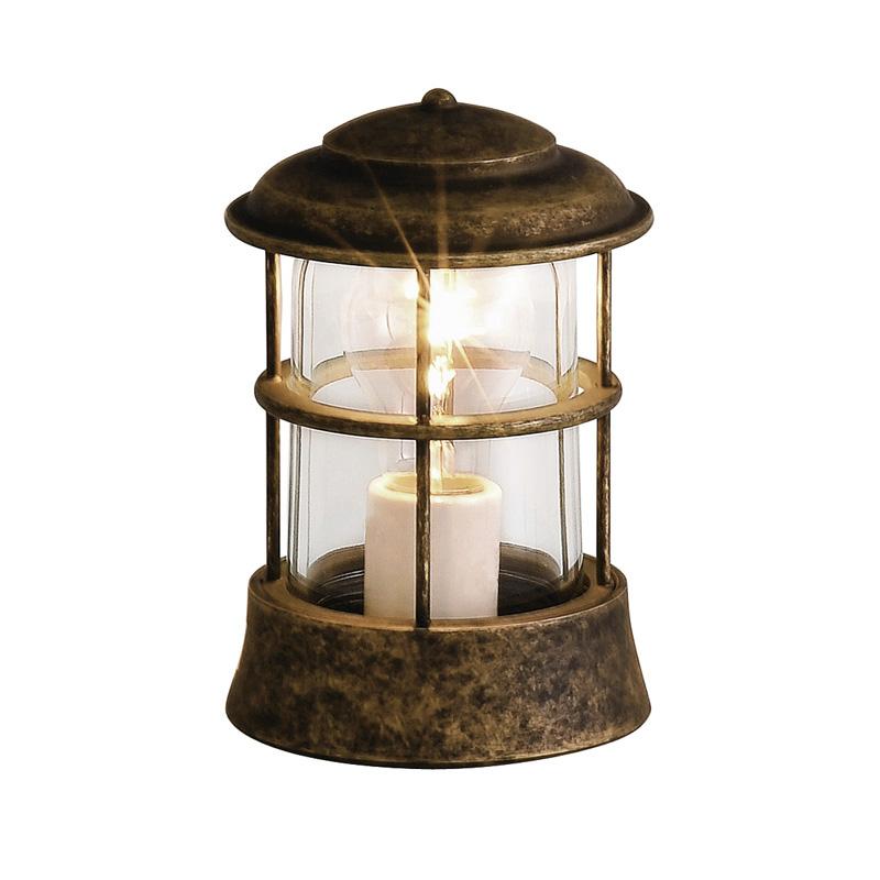【送料無料】【代引不可】【メーカー直送】真鍮製ガーデンライト BH1012 クリアガラス製×【カラー:古色】【白熱電球使用】
