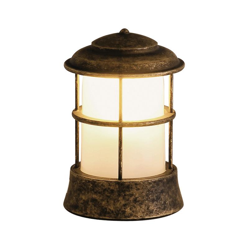 【送料無料】【代引不可】【メーカー直送】真鍮製ガーデンライト BH1012 くもりガラス製×【カラー:古色】【LED使用】