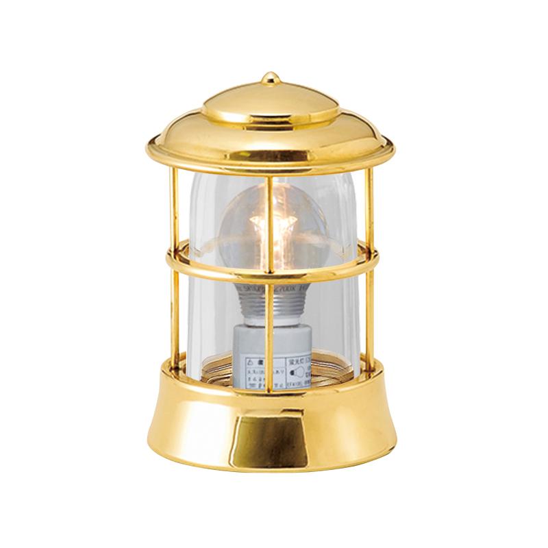 【送料無料】【代引不可】【メーカー直送】真鍮製ガーデンライト BH1012 クリアガラス製×【カラー:磨き】【LED使用】