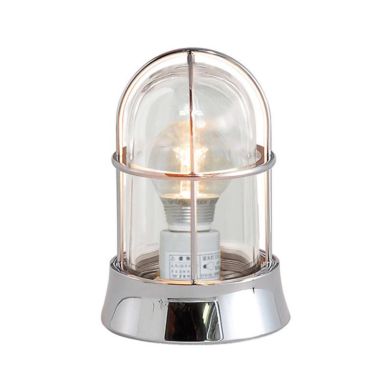 【送料無料】【代引不可】【メーカー直送】真鍮製ガーデンライト BH1000 クリアーガラス製×【カラー:クローム】【LED使用】