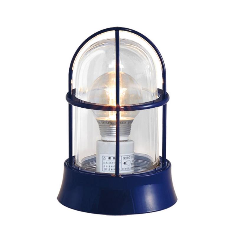 【送料無料】【代引不可】【メーカー直送】真鍮製ガーデンライト BH1000 クリアーガラス製×【カラー:紺色塗装】【LED使用】