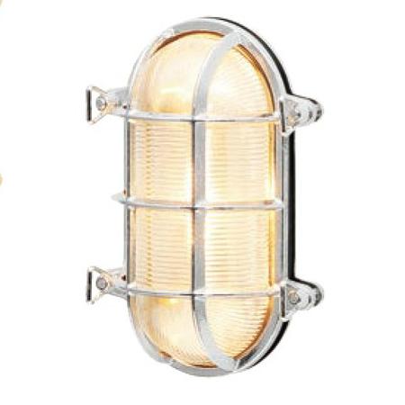 【送料無料】【代引不可】【メーカー直送】真鍮製ポーチライト BH2035 クリアーガラス製×【カラー:クローム】【LED使用】