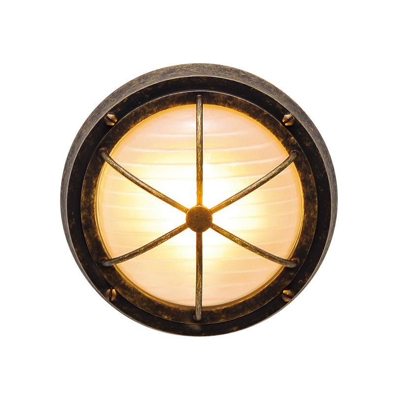 【送料無料】【代引不可】【メーカー直送】真鍮製ポーチライト BH3000 くもりガラス製×【カラー:古色】【LED使用】