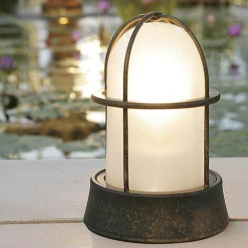 【送料無料】【代引不可】【メーカー直送】真鍮製ガーデンライト BH1000 くもりガラス製×【カラー:古色】【LED使用】