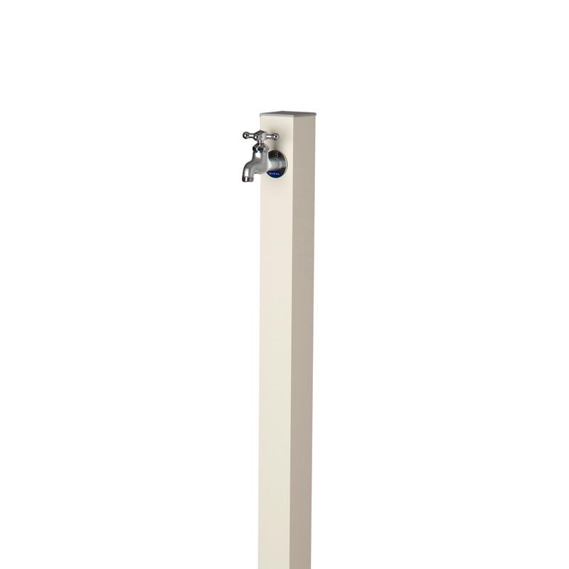 【送料無料】【代引不可】【メーカー直送】アルミ立水栓 Lite×アイスホワイト色(一口タイプ 蛇口付)
