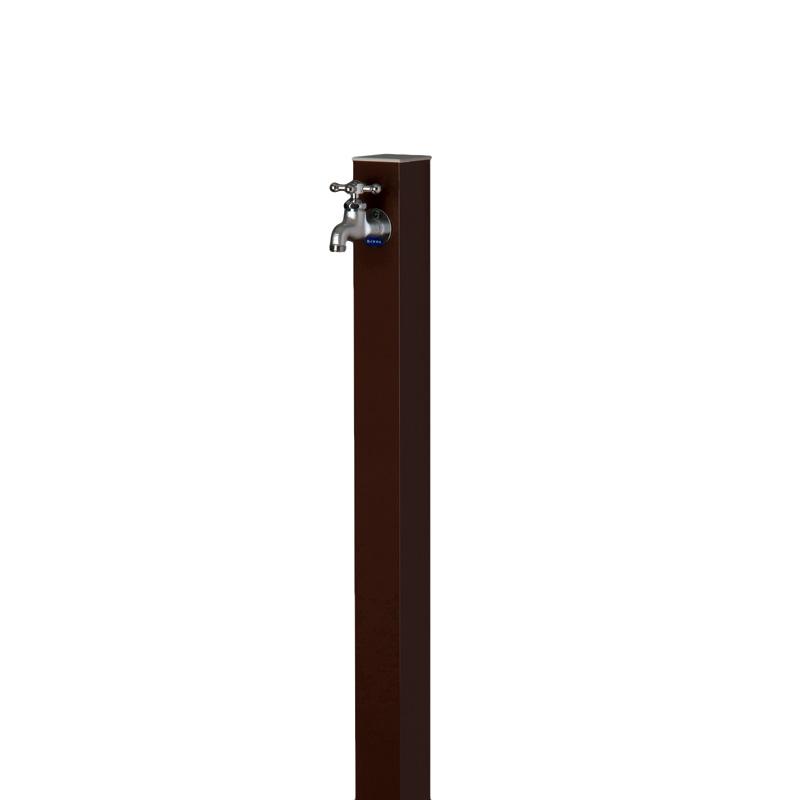 【送料無料】【代引不可】【メーカー直送】アルミ立水栓 Lite×レザーブラウン色(一口タイプ 蛇口付)