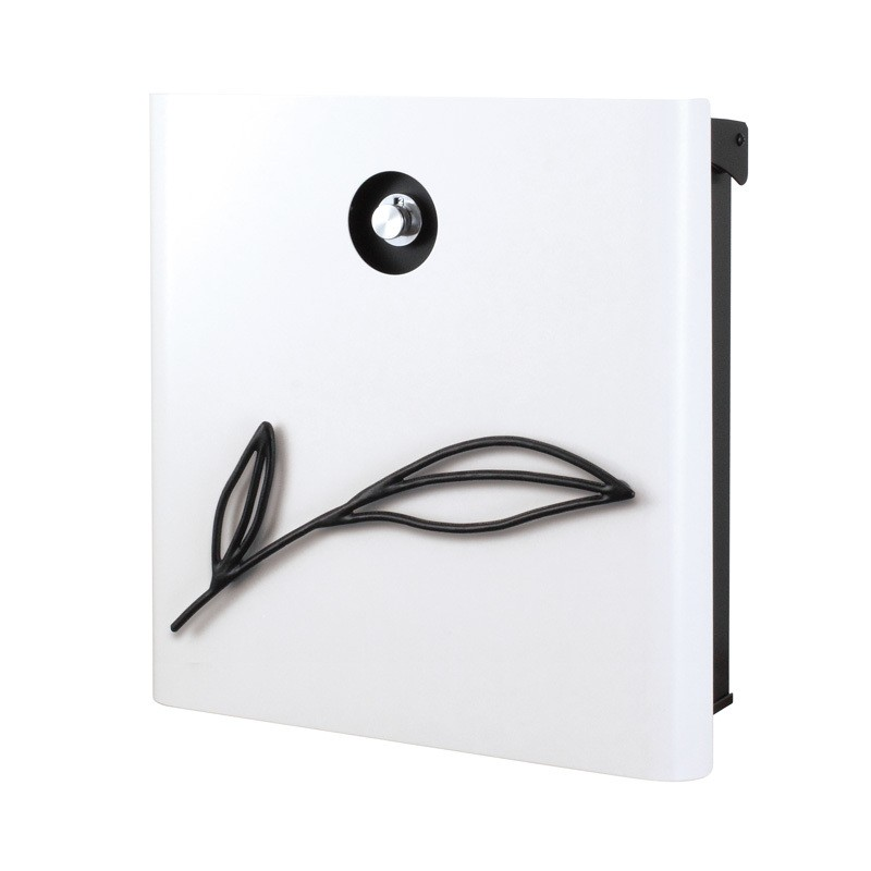 【代引不可】【メーカー直送】ポスト ヴァリオ ネオ ボタニカル Type01-2 壁掛けタイプ (ダイヤル錠付) (ホワイト) NA1-OAB12WH