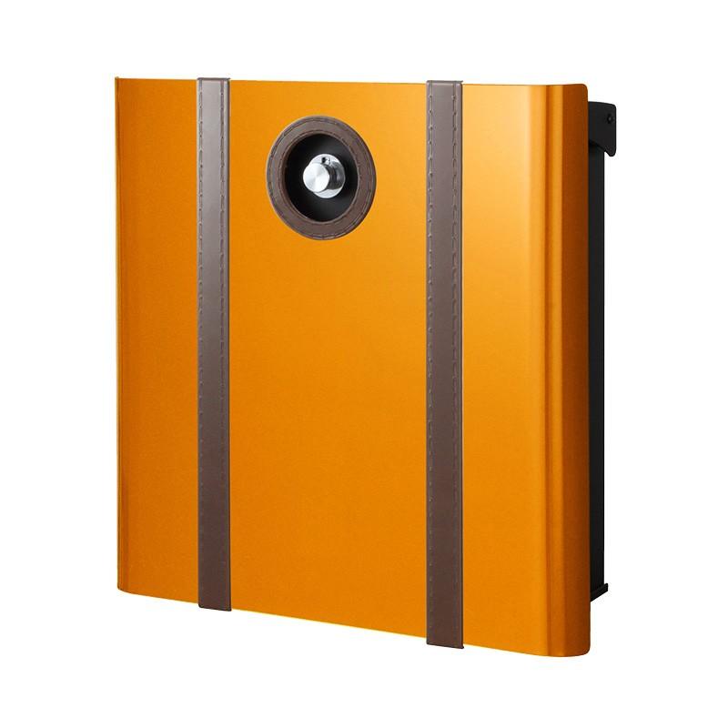 【代引不可】【メーカー直送】ポスト ヴァリオ ネオ ボルサ Type01-2 壁掛けタイプ (ダイヤル錠付) (オレンジ) NA1-OAO12OR