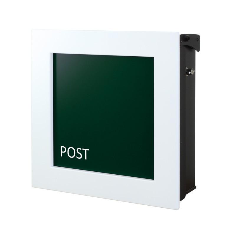 【代引不可】【メーカー直送】ポスト ヴァリオ ネオ キルカス Type01-1 壁掛けタイプ (鍵無し) (フォレストグリーン) NA1-ONK11FG