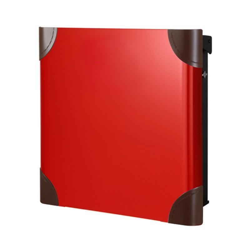 【代引不可】【メーカー直送】ポスト ヴァリオ ネオ ボルサ Type01-1 壁掛けタイプ (T型カムロック付) (レッド) NA1-OTO11RE