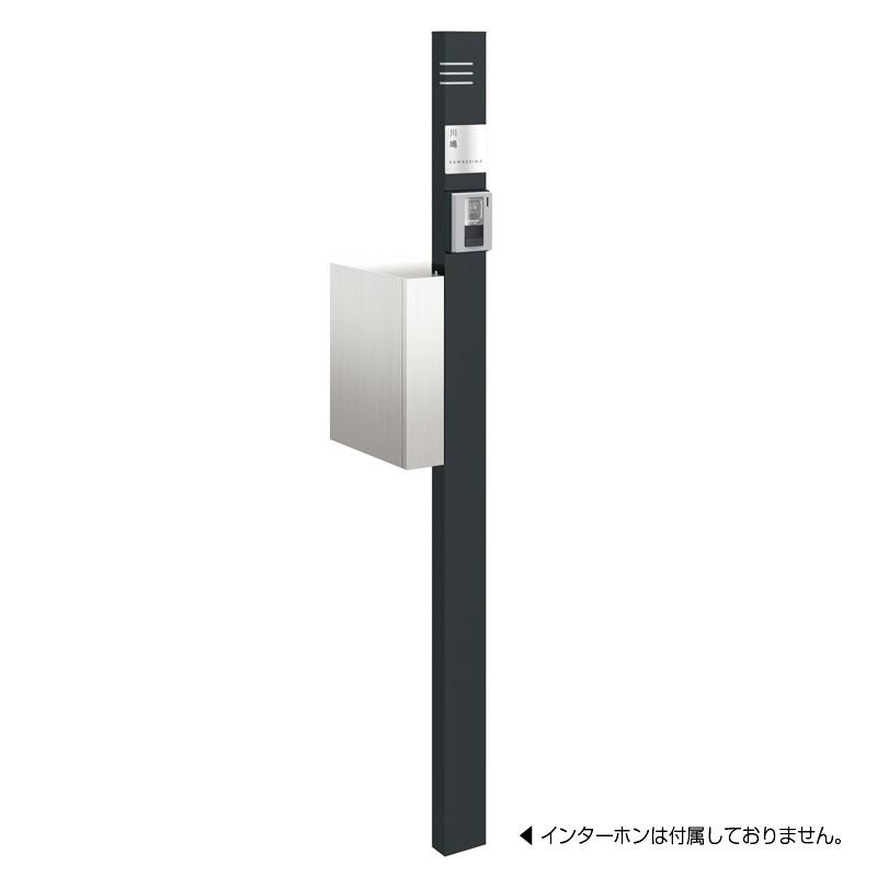 【代引不可】【メーカー直送】ポスト ポスタ プラス TypeA インターホン取付仕様 (グロスブラック) NA1-PSPAGB