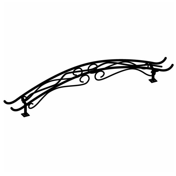 【送料無料】【代引不可】【メーカー直送】ガーデンアーチ Type04(アーチ部のみ) バーンブラック