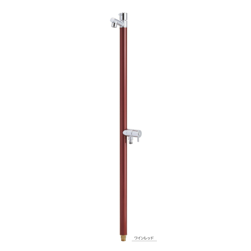 【送料無料】【代引不可】【メーカー直送】ガーデン水栓柱のみ ジラーレW(補助蛇口付) 2口水栓