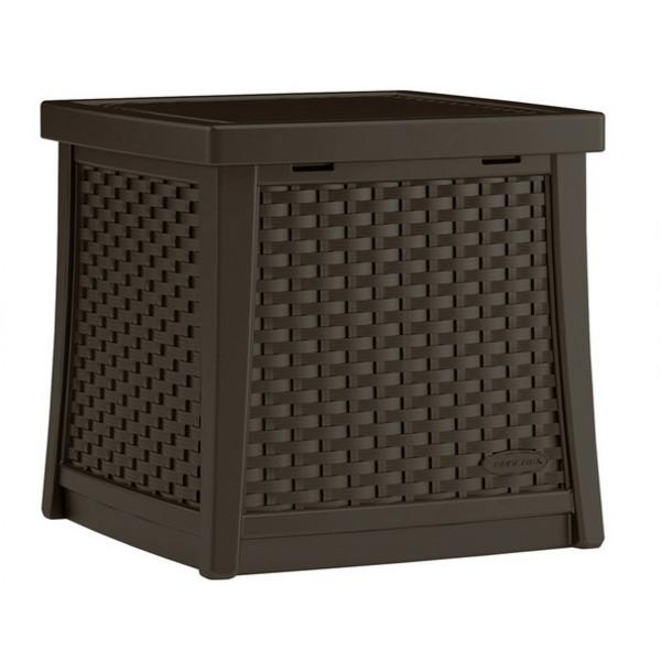 【代引不可】【メーカー直送】ガーデンファニチャー ラタン調 テーブルボックスS (コーヒー) TO3-BMDB1300