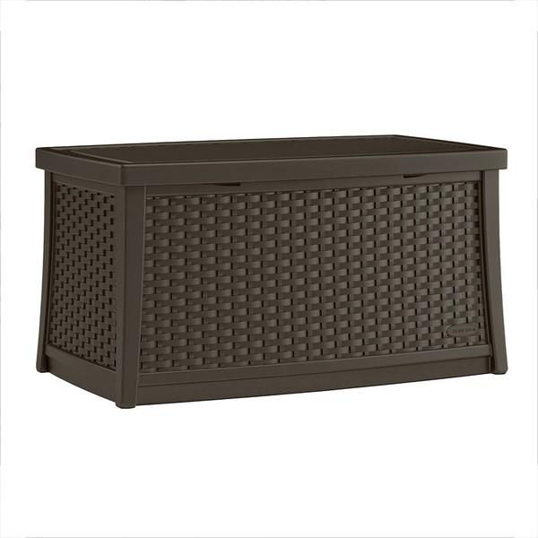 【代引不可】【メーカー直送】ガーデンファニチャー ラタン調 テーブルボックスL (コーヒー) TO3-BMDB3000