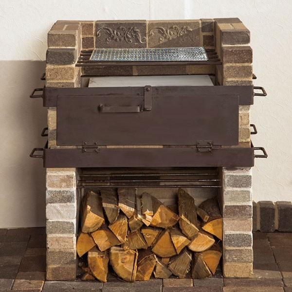 【代引不可】【メーカー直送】アンティークブリックス バーベキュー炉オーブン機能付き TW3-AB-BQ
