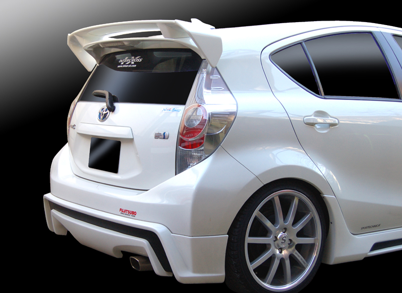 トヨタ アクア/リアウイングVer.2(未塗装品)純正大型リアスポイラー用