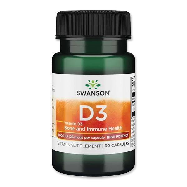 ビタミンDサプリで負けないカラダを NEW ビタミンD3-ハイポテンシー 1000IU Swanson 流行 SALE開催中 25mcg スワンソン 30粒
