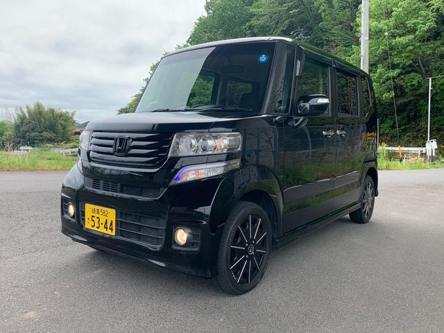 N-BOXカスタム G・Lパッケージ 4WD 両側電動スライド ナビTVBカメラ(ホンダ)【中古】
