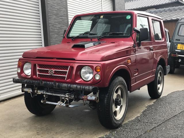 ジムニー 軽自動車 ETC 4WD ラジアントレッドマイカ MT AW(スズキ)【中古】