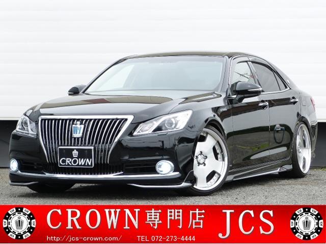クラウンハイブリッド HV MJエアロスタイル TEIN車高調 WORK20インチ(トヨタ)【中古】
