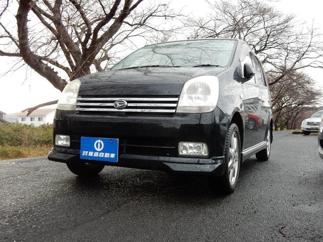ミラアヴィ R 4WD 禁煙 リモコンエンジンスタート ブラックパール(ダイハツ)【中古】