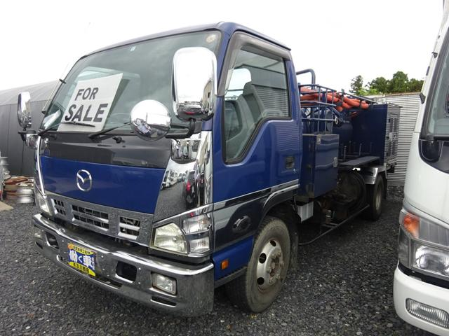 タイタントラック 清掃車 2ペダル モリタ水タンク1600L 水圧ホース2基(マツダ)【中古】