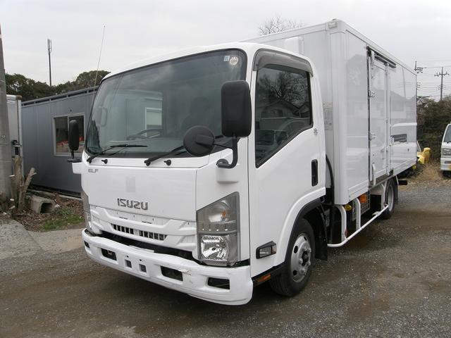 エルフトラック ワイドロング全低床 2トン積み -5℃設定 AT キーレス(いすゞ)【中古】