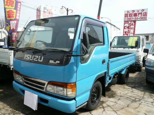 エルフトラック 1.5t平ボデー AC PS PW(いすゞ)【評価書付】【中古】