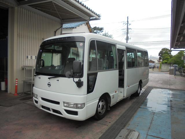 シビリアンバス マイクロバス 乗車定員29人 自動ドア バックカメラ(日産)【中古】
