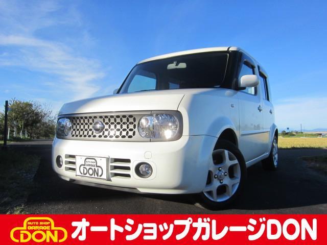 キューブ 14S FOUR 4WD Tチェーン DVDナビ(日産)【中古】