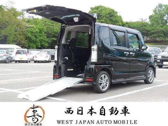 N-BOX+カスタム G福祉車両スローパー ナビ TV DVD BT(ホンダ)【評価書付】【中古】