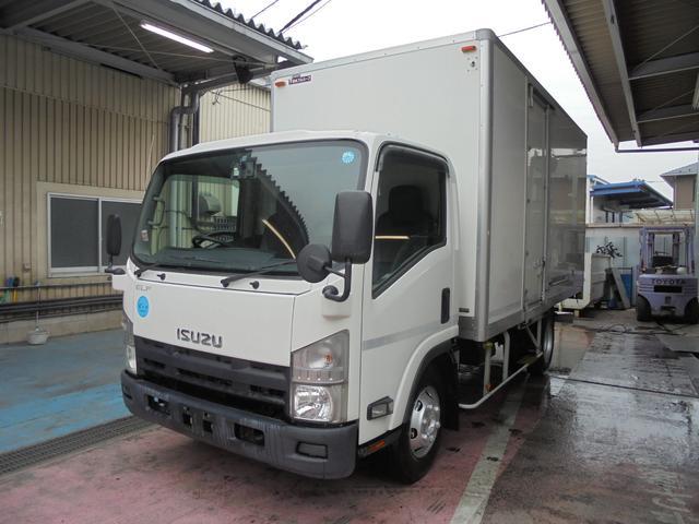 エルフトラック 3.5t超ワイドロング 保冷バン ラッシングレール2段 高床(いすゞ)【中古】