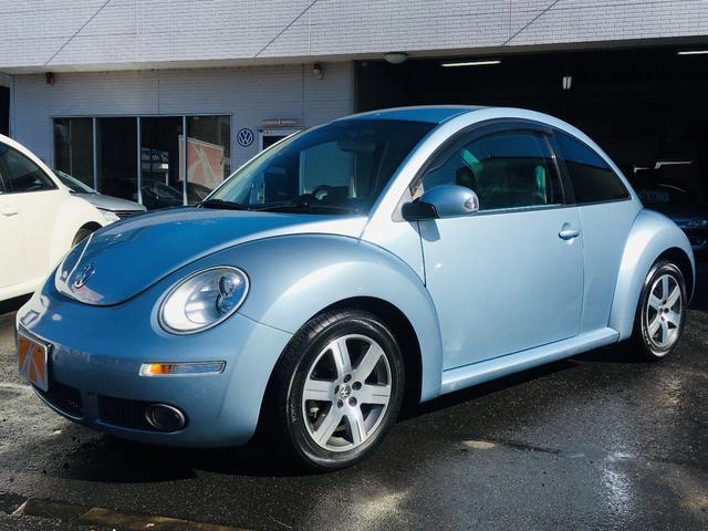 VW ニュービートル 2007年後期ベースグレードモデル 専用ブルーインテリア(フォルクスワーゲン)【中古】