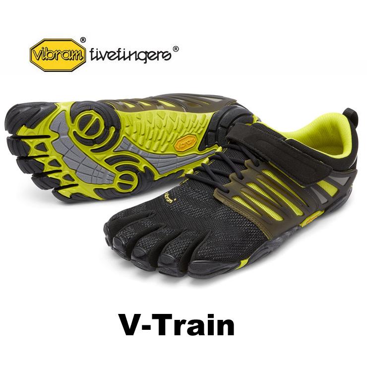 VibramFiveFingers ビブラムファイブフィンガーズ 5本指シューズ V-Train 17M6602 Black/Green 【ネコポス不可】