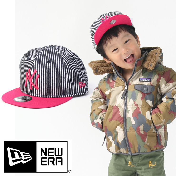 b5e03747 New Era new gills kids hat Youth 9FIFTY Japan hickory New York Yankees  hickory / strawberry 11781009