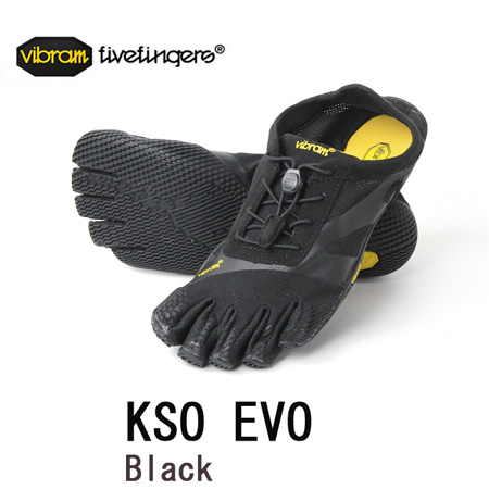 vibram fivefingers ビブラム ファイブフィンガーズ 22 KSO EVO Black VibramFiveFingers 五本指 ランニングシューズ レディース 2015【メール便不可】