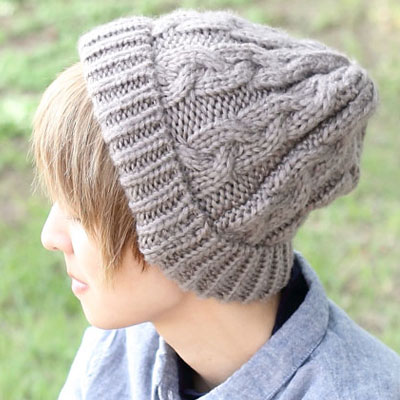 Protocol Loosely Crochet Cable Knit Hats Caps Hat Cap Men Womens