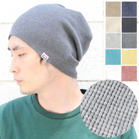 Premium organic cotton waffle reversible Kamon Cap   Hat knit Cap bespoke  brand handmade men s women s care knit thin made in Japan autumn winter ... 67fe6c09c3a