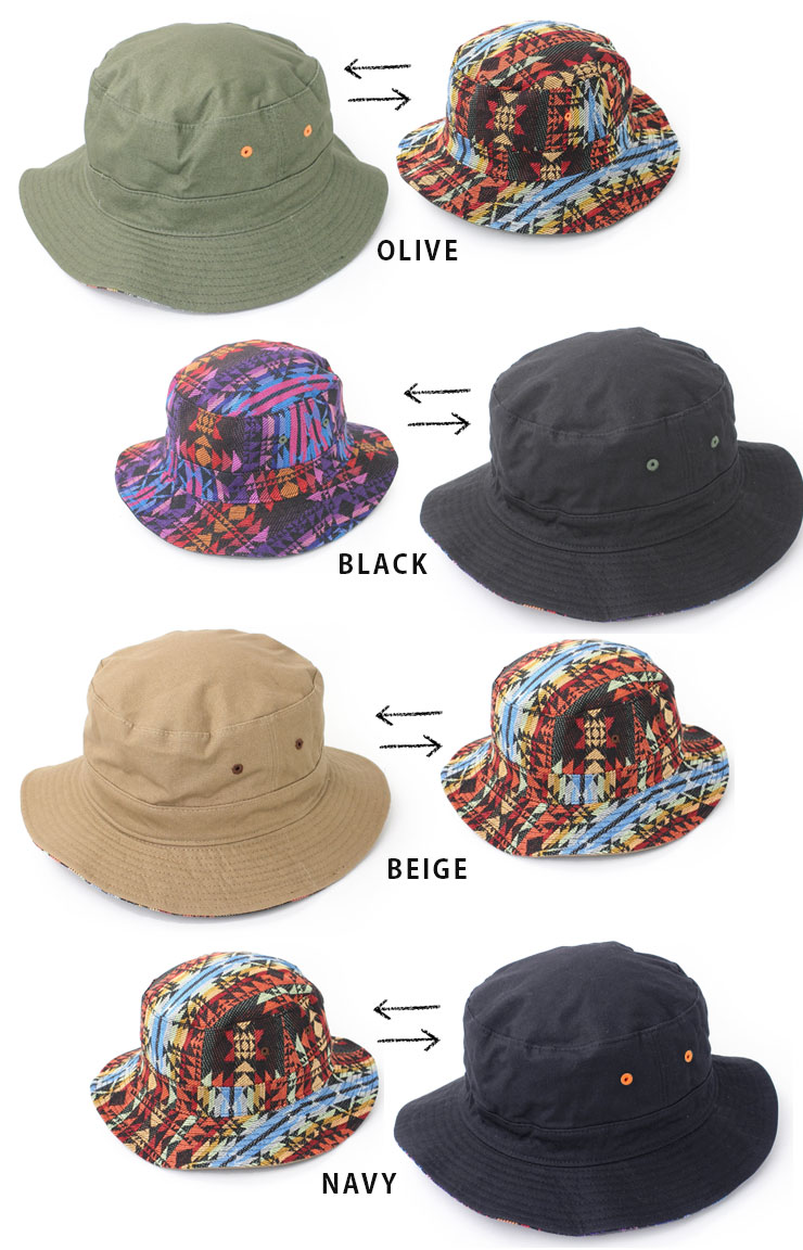f4926a51e Reversible canvas ja guard bucket Hat / Hat mens ladies Safari Hat outdoors  outdoor festival fashion mountain girl summer FES 2-WAY new goods