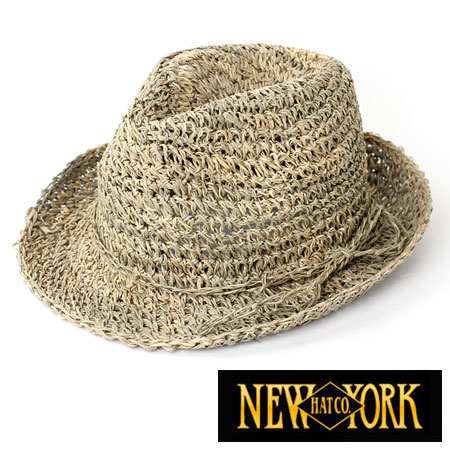 NEWYORK HAT New York hat Sea Grass Fedora hat ultraviolet rays measures UV  straw hat straw ... f3a7050688c